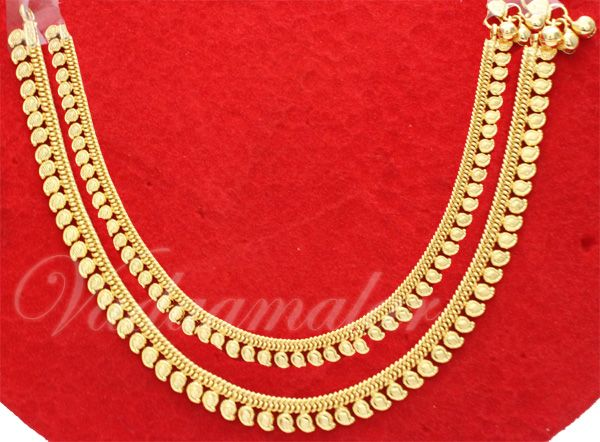 Buy Small size Ethnic Traditional Indian Gold Toned Anklets Traditional Payal