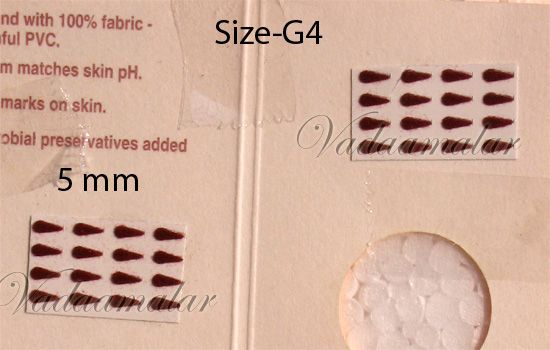 1 Pack of 20 sheets Indian Maroon / Black / Red Tear Bindis Forehead Body Dots -5 mm