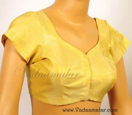 Gold Tissue Blouse with Liining Readymade Ready to wear Saree Sari Blouses Choli