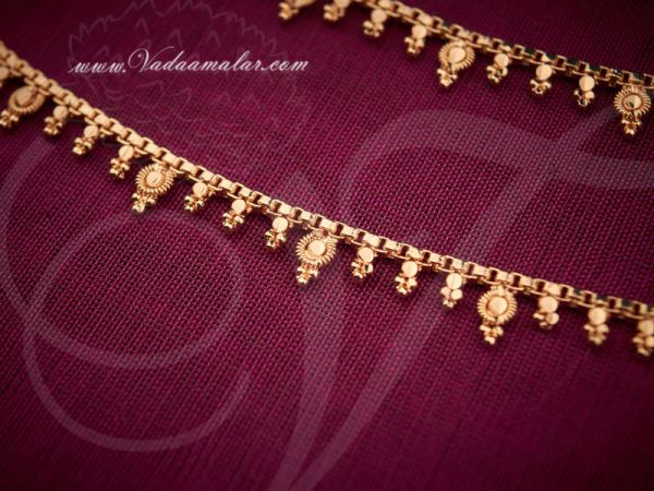 Micro Gold plated Anklets Kolusu Leg Ornament Indian anklet