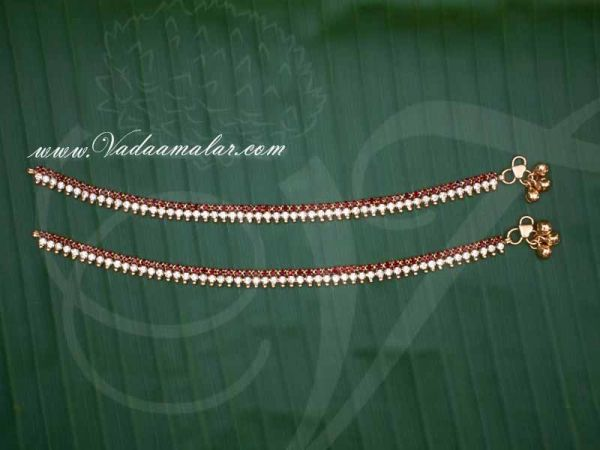 Children Size Micro Gold plated Anklets Kolusu Payal Leg Ornament Indian anklet Buy Now