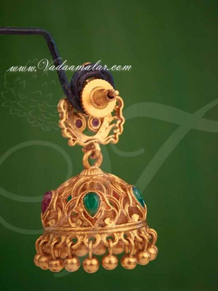 Antique Design Jhumkis Earrings Jhumka Indian Buy Online