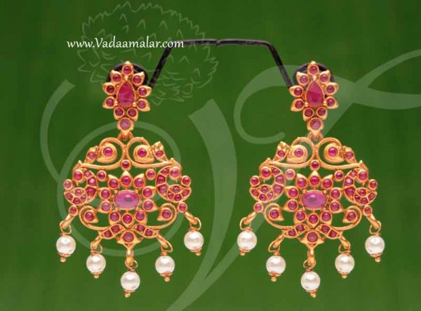 Earring Antique Yellow Gold Design Jhumka Jhumkis Indian Buy Now