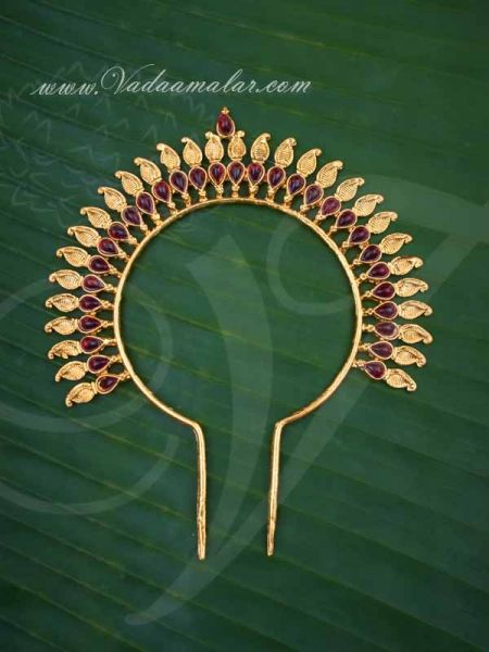 Indian Wedding Hair Accessories Designer Hair Pin (Ambada) Bridal Braid Rakdoi Arch Buy