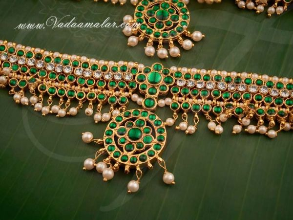 Armlet Baju Bandth Vangi with Kemp Stones from India Buy Online