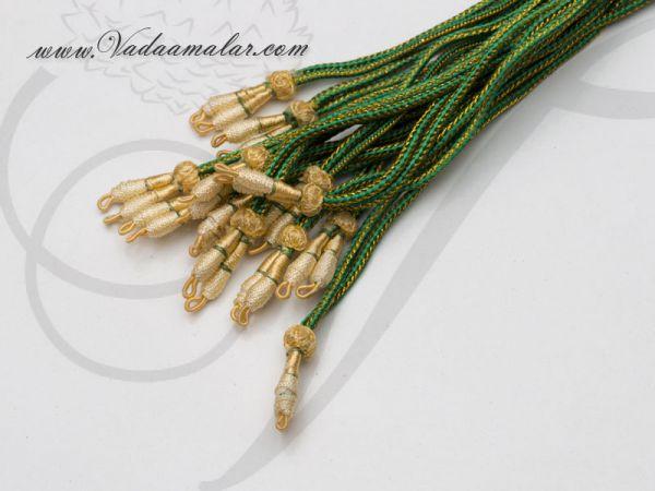 Buy Online Green rope for Necklace Green Thread - 6 pieces