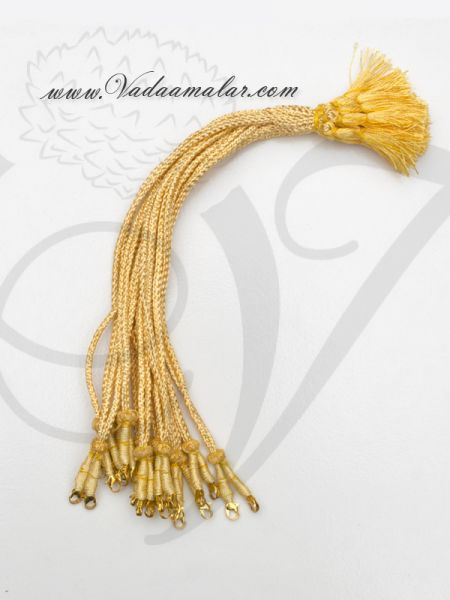 Buy Online Gold back rope for Necklace Gold Thread - 6 pieces