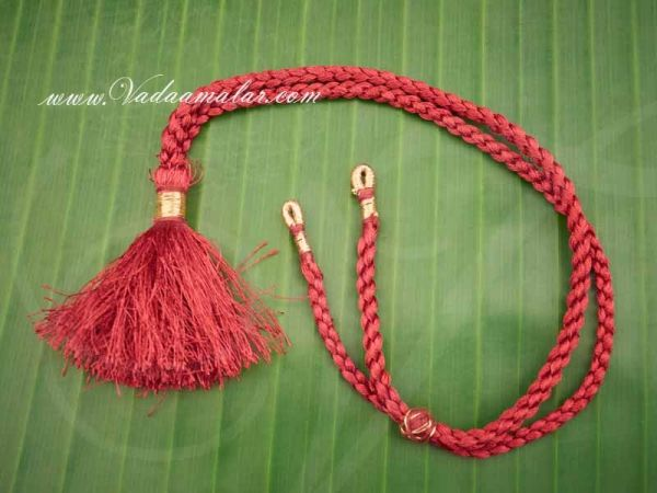 Thick Maroon Rope Dori For Necklace Back Thread - 6 pieces Buy Online