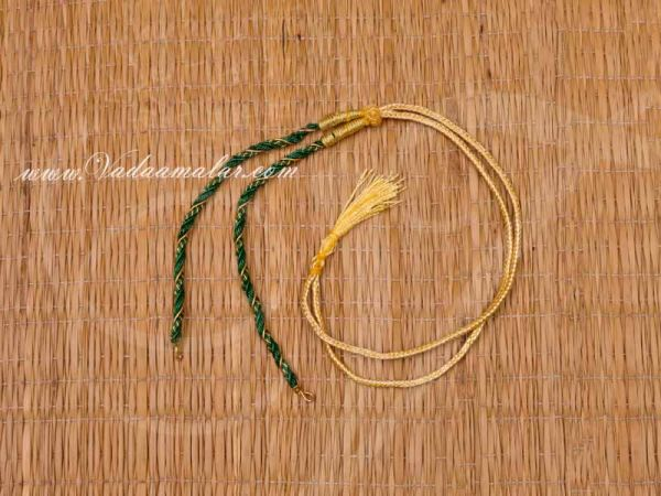 Back rope - Green Necklace Making Craft Chain Thread - 6 pieces Buy Online