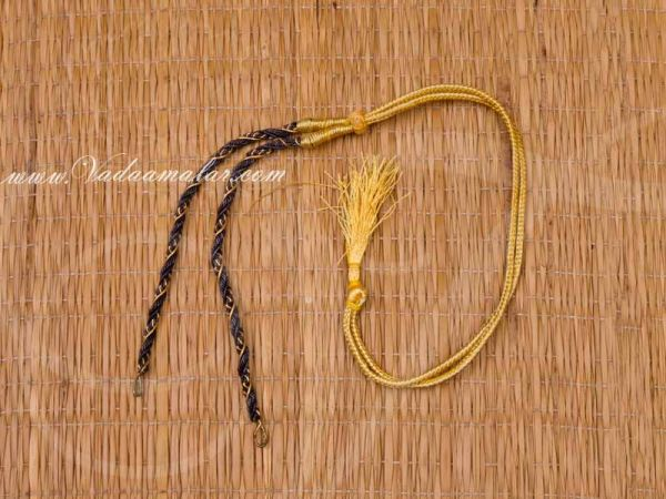 Back rope - Black Necklace Making Craft Chain Thread - 6 pieces Buy Online