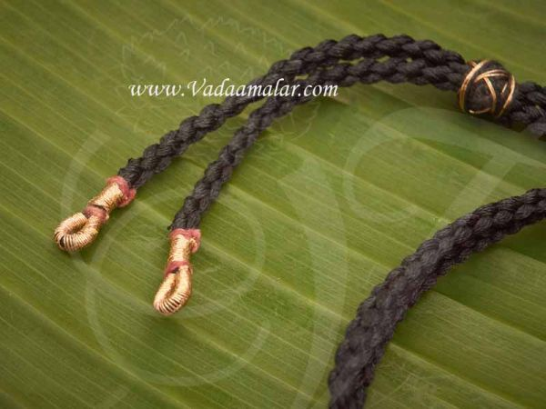 Black back rope With Fish Hokes for Necklace Silk Thread Buy Online - 6 pieces