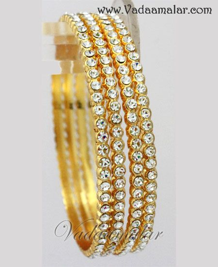Details about  /Indian Ethnic Bollywood Bridal Wedding Set of 4 Bangles in Red White Stones