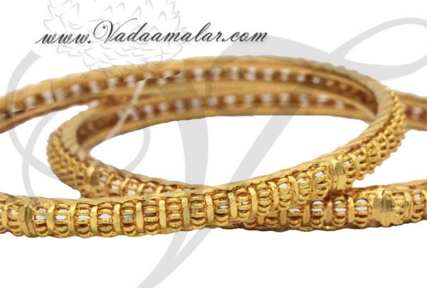 2 pieces micro gold plated India Bangles Bracelets