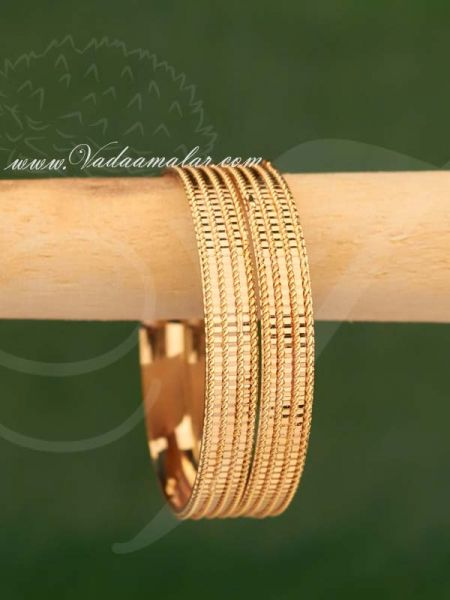 Gold Plated Indian Design Bracelets For Children Buy Now -2 Pieces