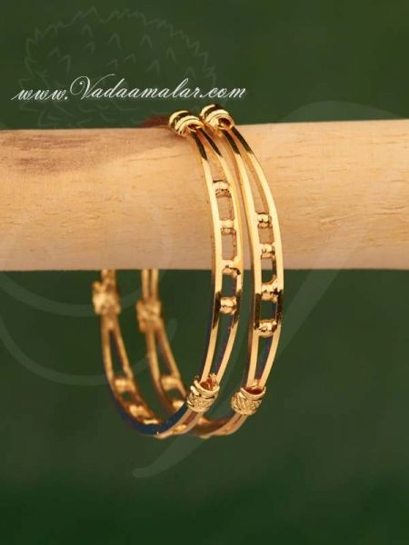 Gold Plated Small Size Kids Bangle Bracelets For Children