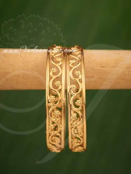 Bangles Micro Gold Plated Indian Design For Sarees And Salwar Buy Online