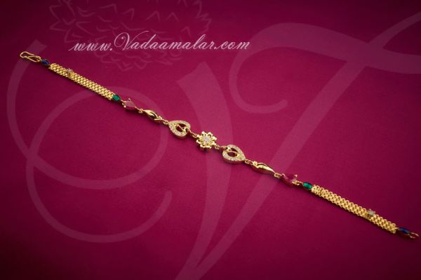 American Diamond Rakhi Bracelet bracelets Jewellery Buy Gifts