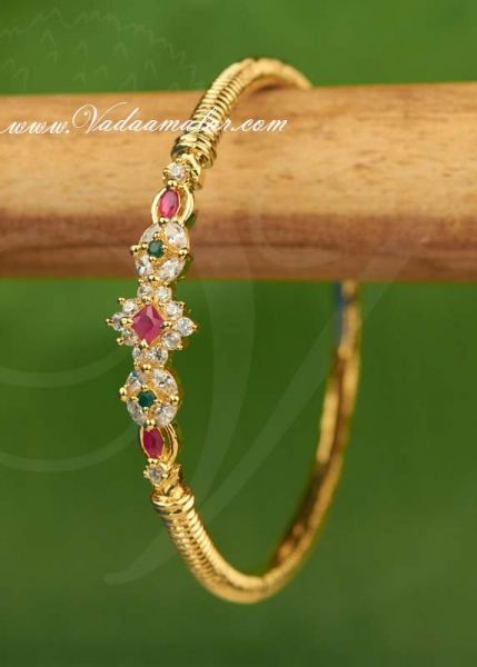 Ruby Emerald Stones Bracelet Jewellery for Gifts
