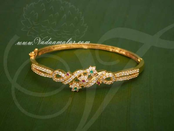 American diamond and Ruby Emerald Stones Bracelet Jewellery for Gifts