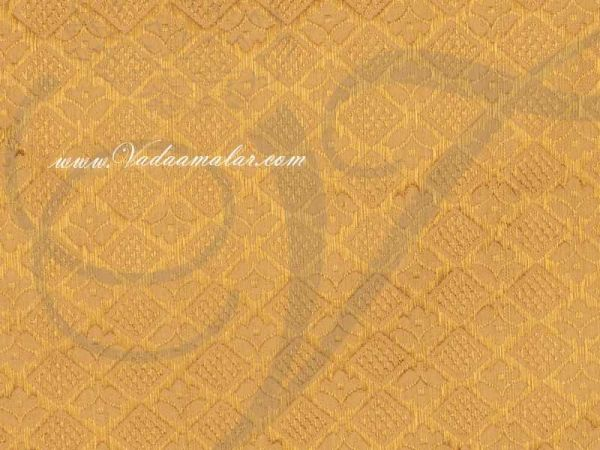Cream With Gold  Design Brocade Fabric  Buy Online Now