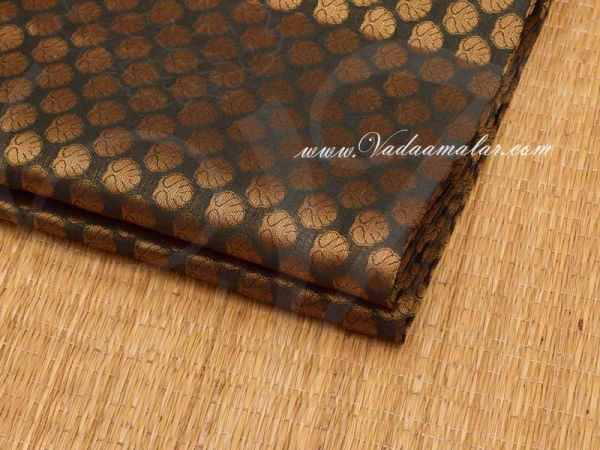 Black With Gold  Design Brocade Fabric  Buy Online Now