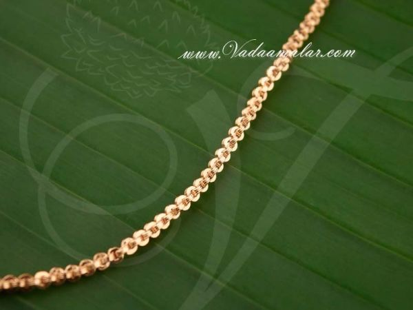 Micro Gold Polish Long Chain Indian Design Buy Online
