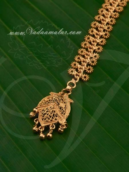 Gold Plated Forehead Decoration Buy Maang Tikka Chutti Online