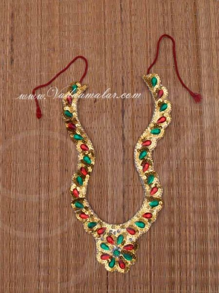 Long Necklace for costumes Raja King God Goddess Fancy Dress Buy now
