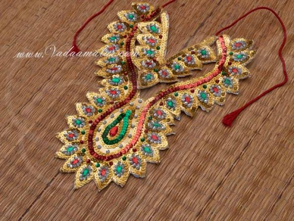 10.5 Inches Long Chamki Necklace for costumes Raja King God Goddess Fancy Dress Buy now