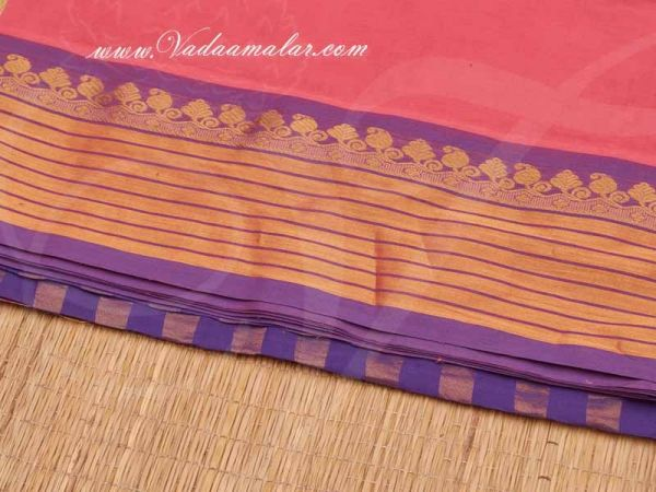 Traditional India Pure Cotton Sarees Buy Now Online