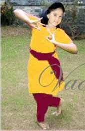 38 size Yellow And Maroon Kuchipudi Bharatanatyam Dance Practice Learning Salwar Kameez Costume India