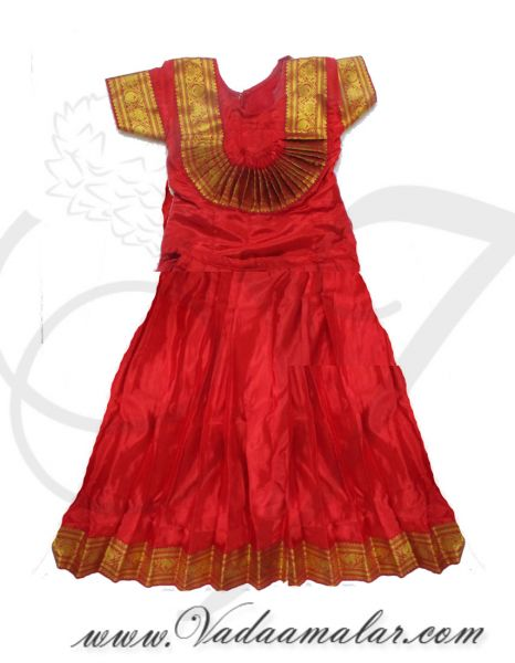 30 Size (10 years) Ready to wear Made Skirt and Blouse Semi Classical Indian Dresses Costumes