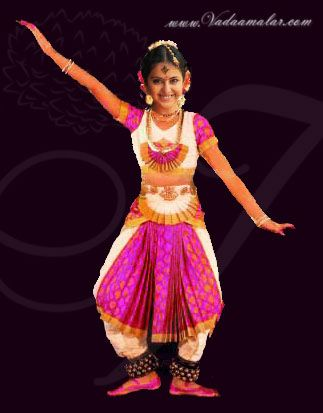 Bharatanatyam Style Brocade Dance Costume for Young Girls Buy Online Costumes
