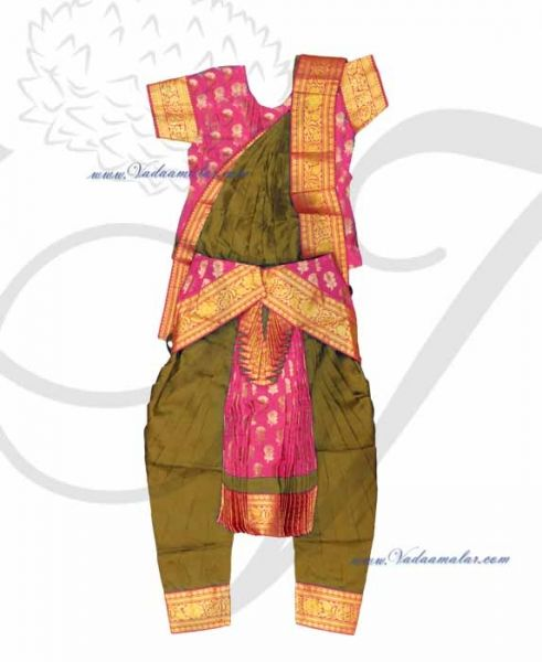 Bharatanatyam Pant Model Costume Ready to Wear Made Dress Available to Buy Online