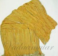 Crushed Bright Gold Tissue Stole Dupatta 2.5 meters Yellow