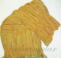 Crushed Dull Gold Tissue Stole Dupatta Chunni shawl 2.5 meters