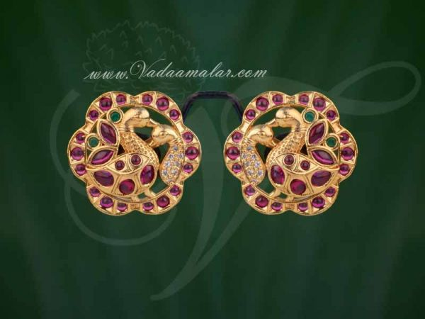 Antique Trendy Peacock Design Indian Ear Studs Buy Now