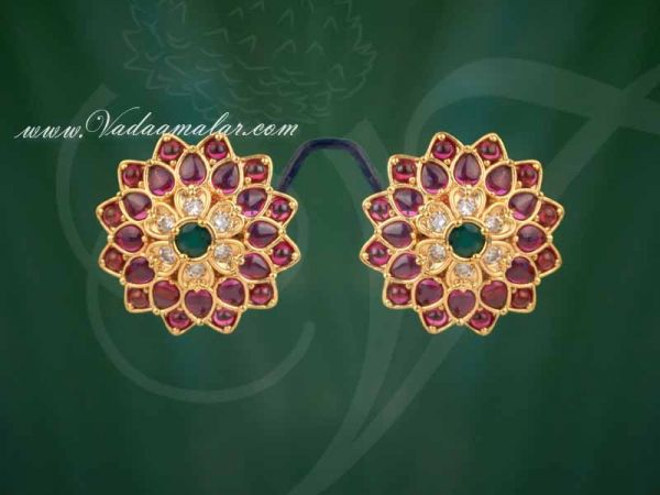 Antique Trendy Flower Design Indian Ear Studs Buy Now
