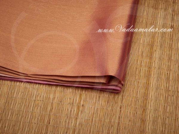 Pink Tissue Sytnehtic Fabric Material Buy online