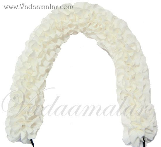 1 meter Synthetic Jasmine white flower petals artificial stand line for decorations