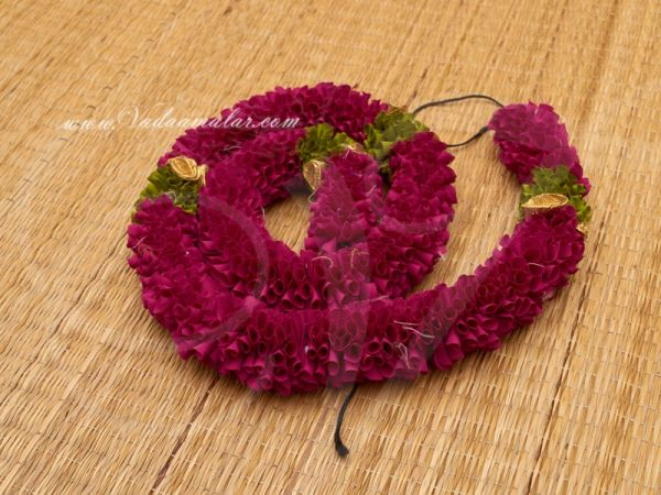 1 meter Synthetic Jasmine Purple flower petals artificial stand line for decorations