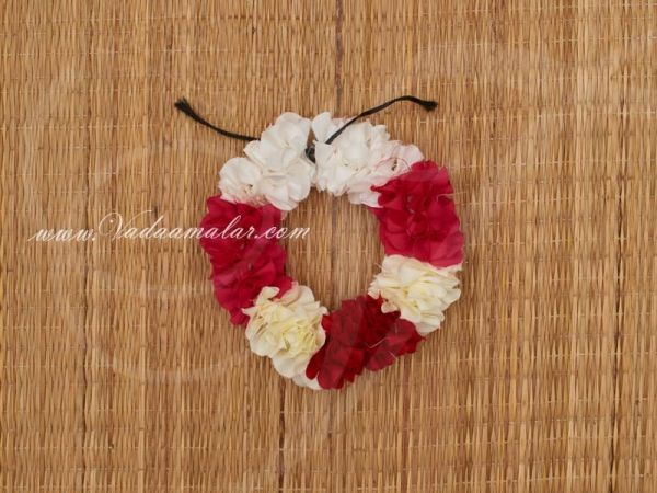 Multi Color Artificial Flower Strand For Hair Braid Band Indian Wedding Dances