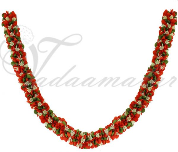 Gorgeous Orange color artificial wedding synthetic garlands maala garland collection-1piece