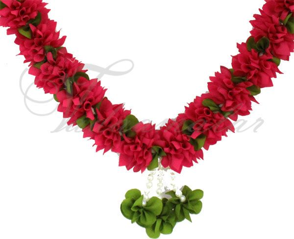 Gorgeous pink color artificial wedding synthetic garlands maala garland collection-1 piece