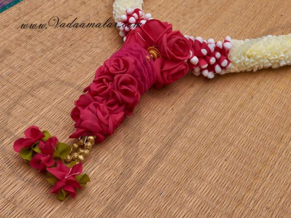 2 pieces Wedding synthetic jasmine garlands maala garland