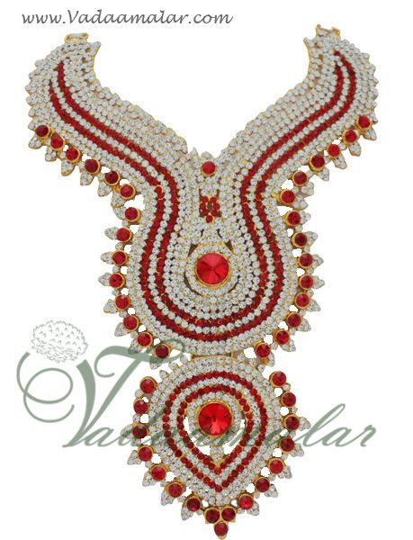 Buy Online Temple Jewellery Stone Necklace Ornaments for Hindu Jewelry for Deity