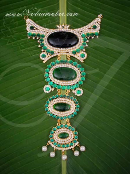 Centre Piece Necklace Swamy Decoration Haram for GOD 10.5 Inches