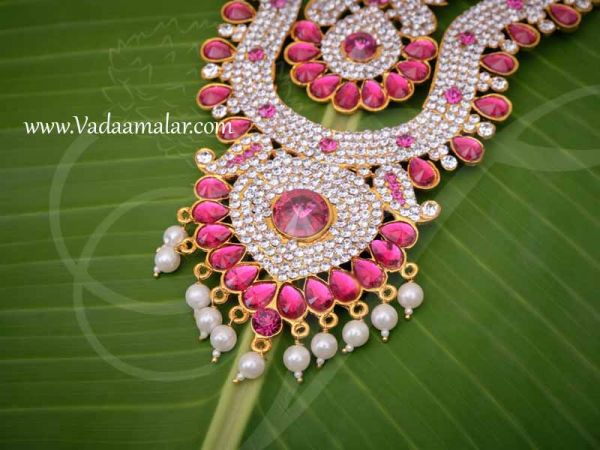 Haaram 2 Step Necklace For Hindu Idol Ornaments Buy Now 8