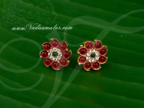 Gold plated Temple Jewellery Ear stud South India Earrings Buy Online