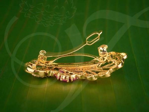 Ruby Emerald Stones Hair Clip Jewellery for Gifts